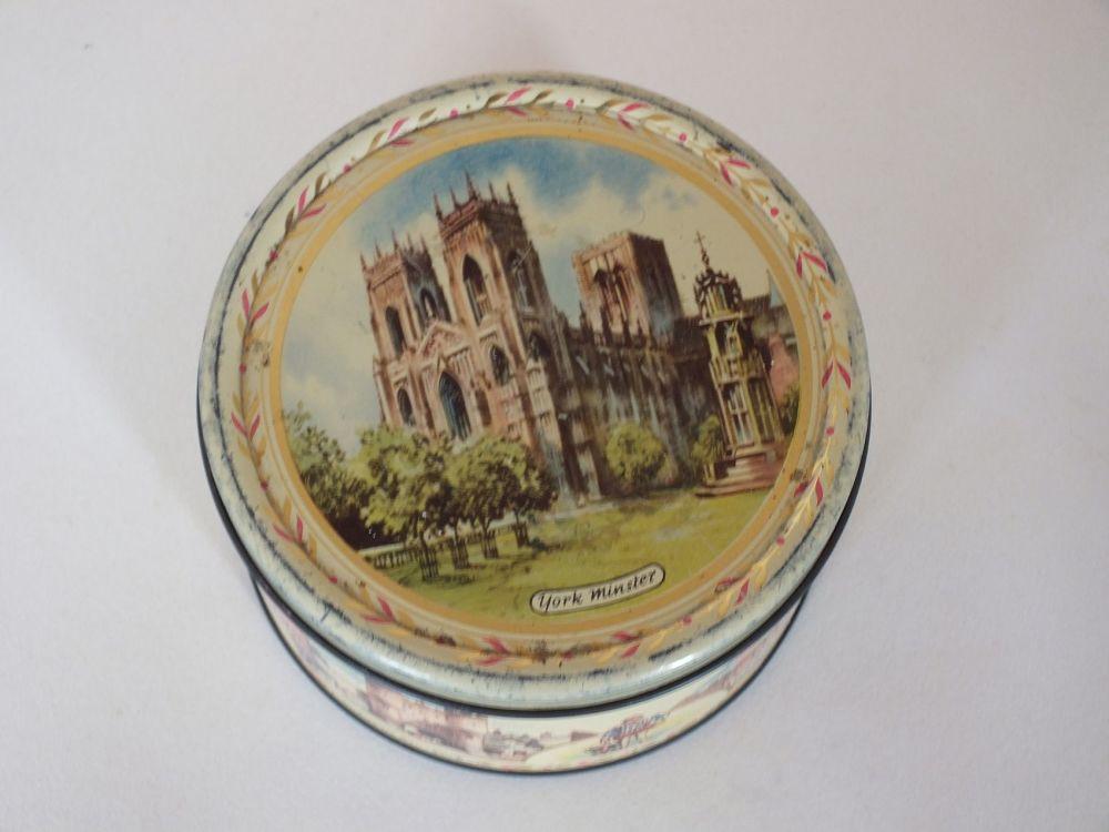 Vintage 1950s Craven Toffee Tin, York Minster