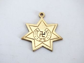 Victorian Good Luck Necklace Pendant, Fob Charm