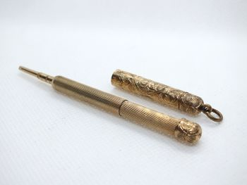 Antique Telescopic Fob Pencil Victorian, Early 20th Century