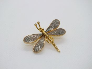 Dragonfly Pin Brooch By Fish