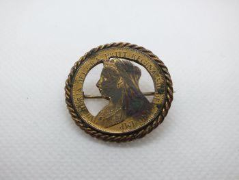 1901 Queen Victoria  Penny Pin Brooch