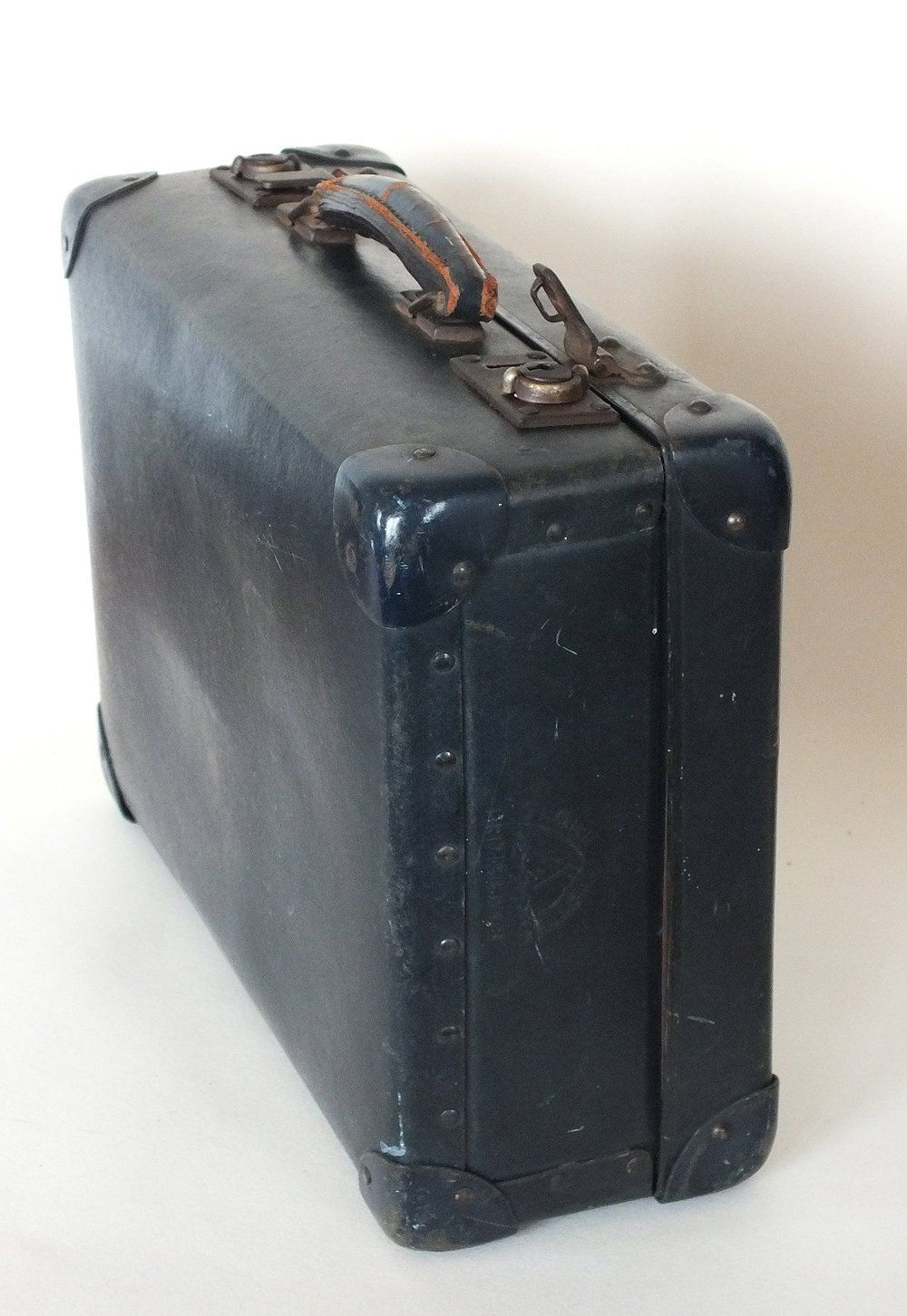 1940s Luggage. Small Globe Trotter Suitcase