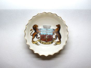 Goss Crested China Pin Dish With Arms Of Bath
