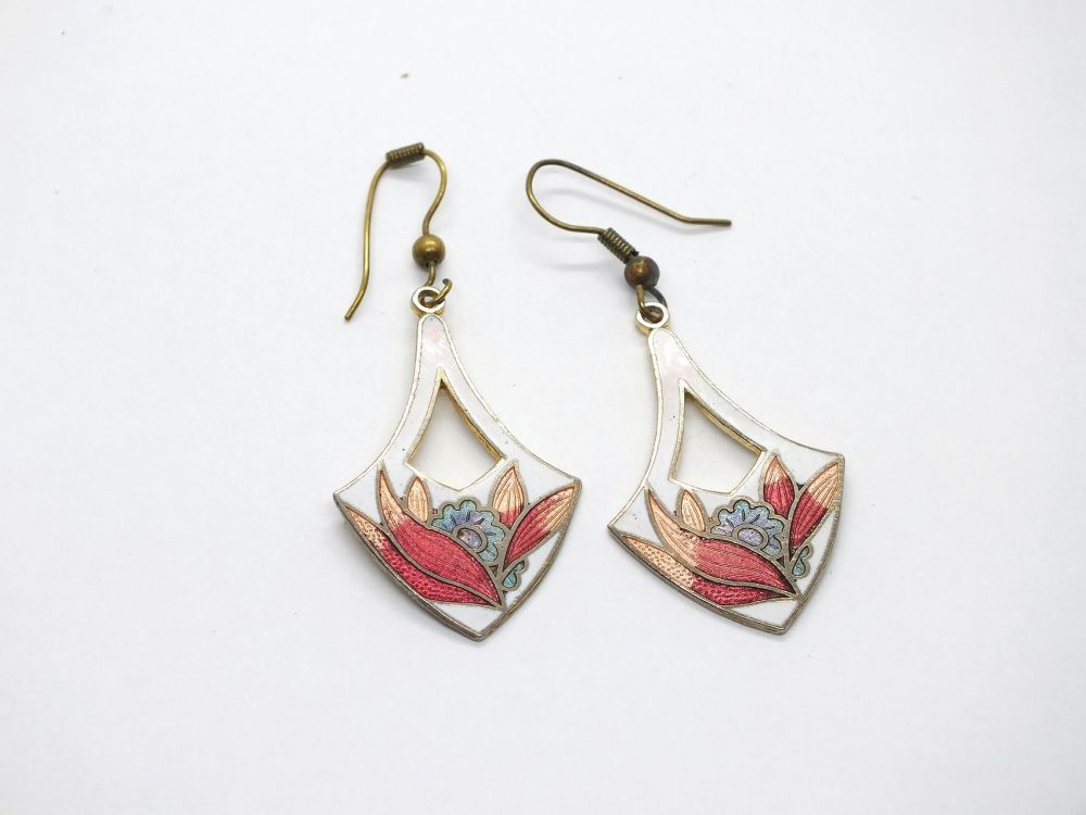 Cloisonne Enamel Earrings
