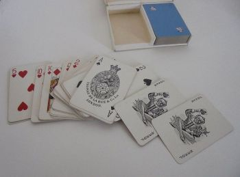 Vintage De La Rue Playing Cards. New Zealand Shipping Co Advertising