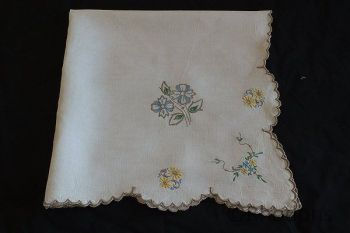 Madeira Embroidery Linen Tablecloth