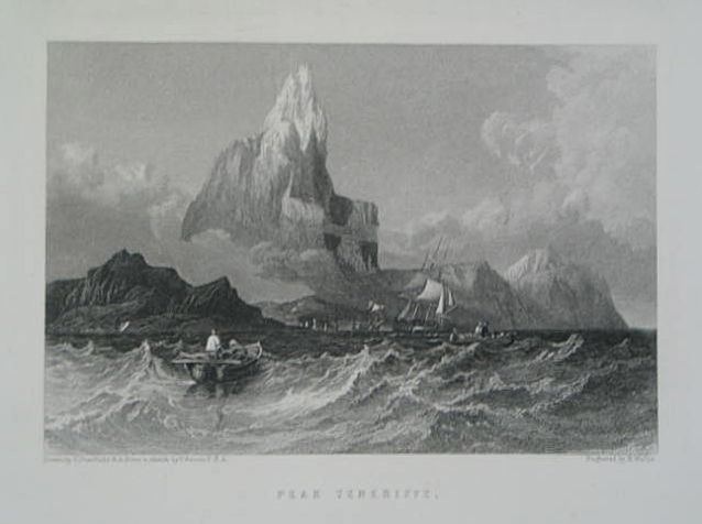 Peak Tenerife, Engraved by R Wallis (Drawing by C Stanfield R.A. from a sketch by T Bacon F.S.A.)