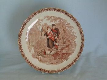 The Blind Piper. Victorian Decorative Wall Plate.