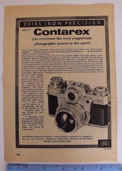 Zeiss Ikon Contarex Camera  Advertising, Product Promotion Ephemera
