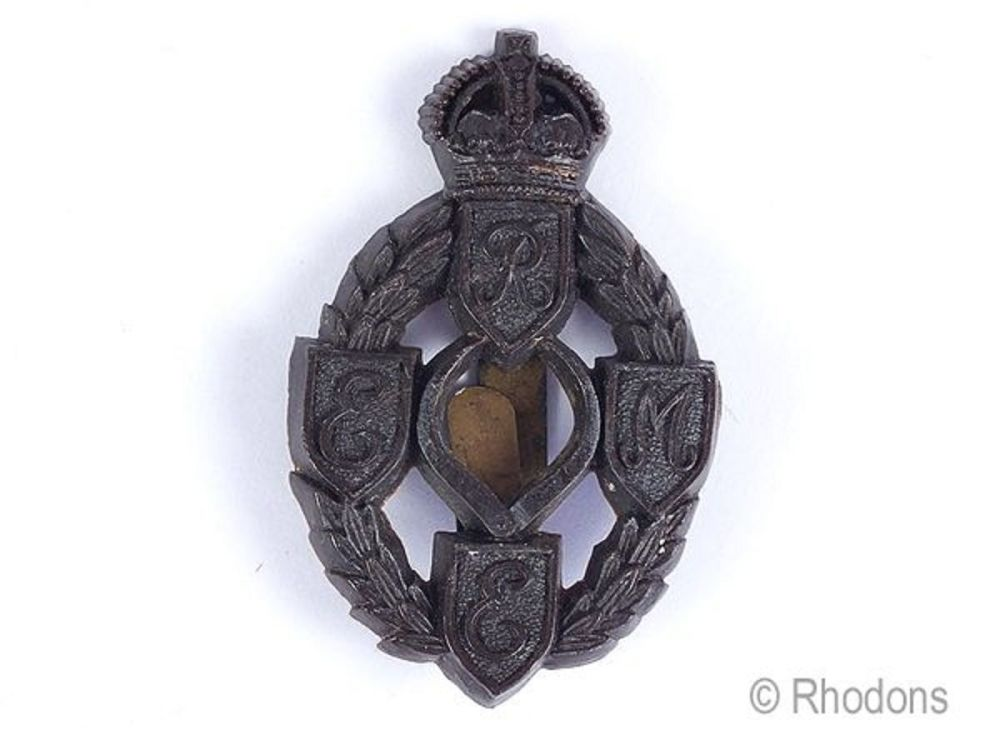 WWII War Economy Plastic REME Cap Badge