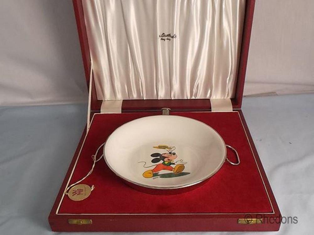 WMF Disney Mickey Mouse Food Warming Plate, 1960s