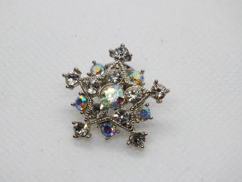 Vintage Snowflake Pin Brooch