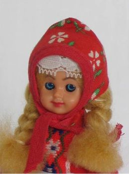 Vintage Dutch Souvenir Costume Doll, City of Marken Holland