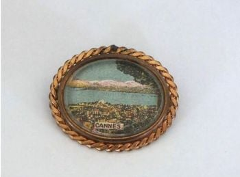 Vintage Travel Souvenir Pin Brooch, Cannes