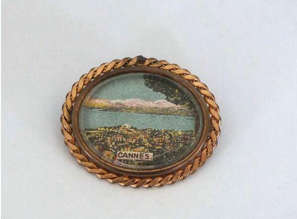 Vintage Travel Souvenir Pin Brooch, Cannes. Circa 1930s