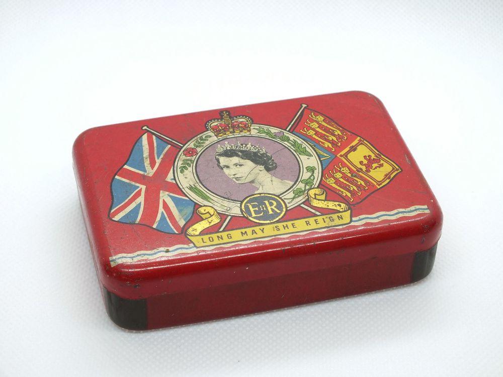 1953 Queen Elizabeth II Coronation Souvenir Tin OXO Beef Cubes
