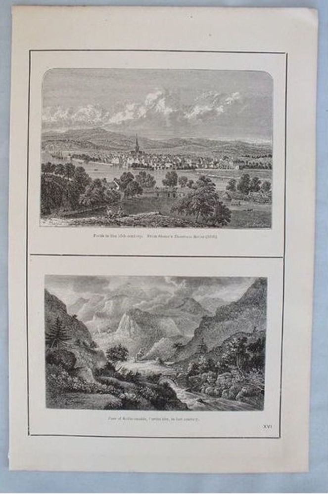 Pass Of Killiecrankie Perthshire. Antique Scottish Landscape Print. Circa 1880s