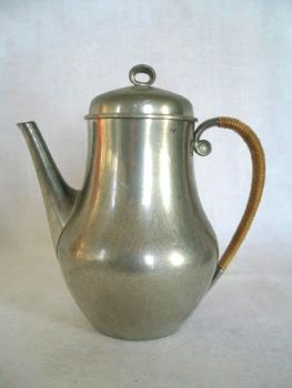 Just Andersen Danish Pewter Coffee Pot, Circa 1930s