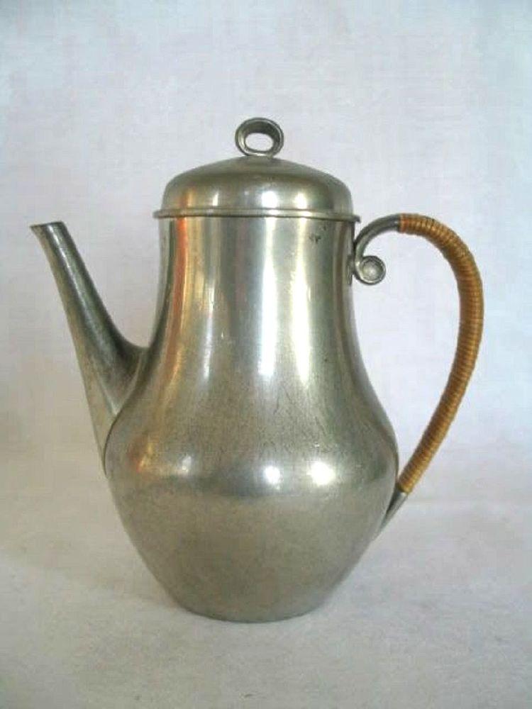 Just Andersen Danish Pewter Coffee Pot, Circa 1930s