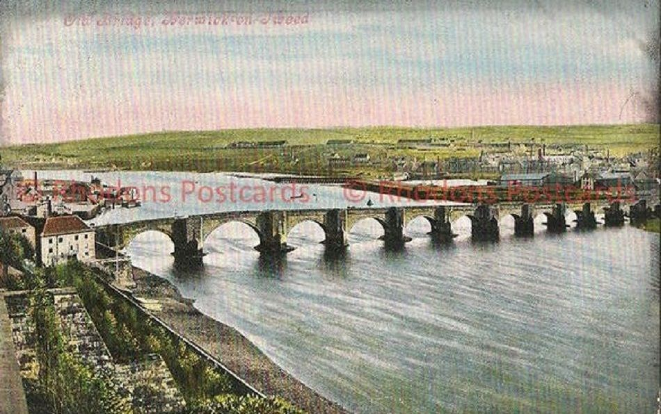 England: Northumberland. The Old Bridge Berwick on Tweed. Early 1900s Postcard