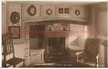 Melrose, Scotland, Dining Room Darnick Tower, 1930s RP Postcard