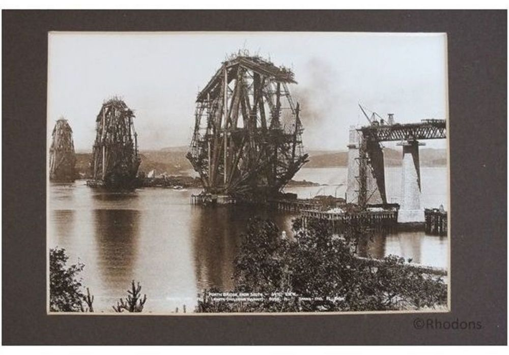 Building the Forth Rail Bridge Photo, View From The South