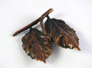 Coppertone Leaf Brooch