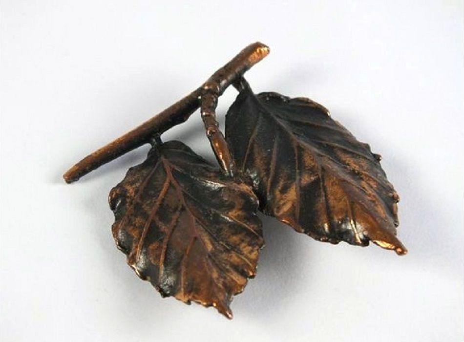 Coppertone Leaf Brooch