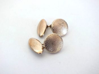 Mens Cufflinks, Rolled Gold Plated Fronts