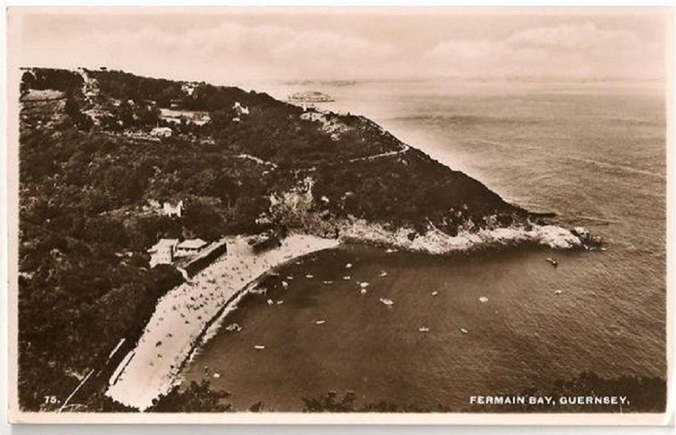 Channel Islands: Fermain Bay, Guernsey 1950s Real Photo Postcard