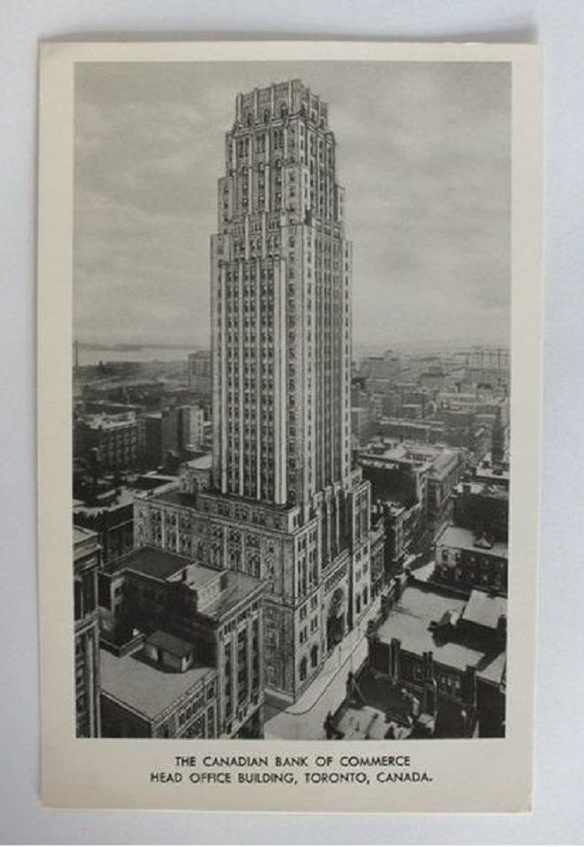 Canada: The Canadian Bank Of Commerce Building Toronto Canada. Vintage Postcard