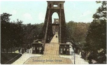 Somerset: Clifton Suspension Bridge. Early 1900s Postcard
