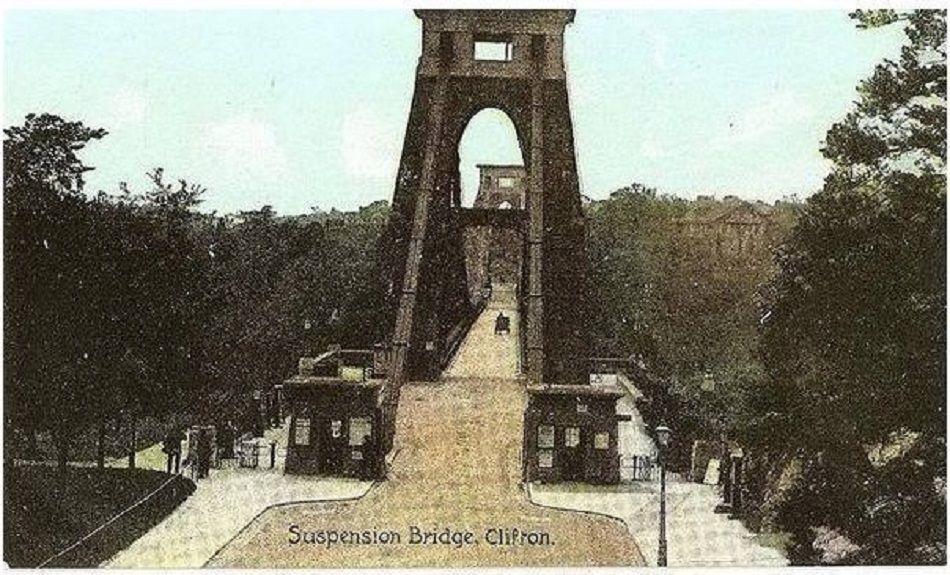 Somerset: Clifton Suspension Bridge. Early 1900s Postcard