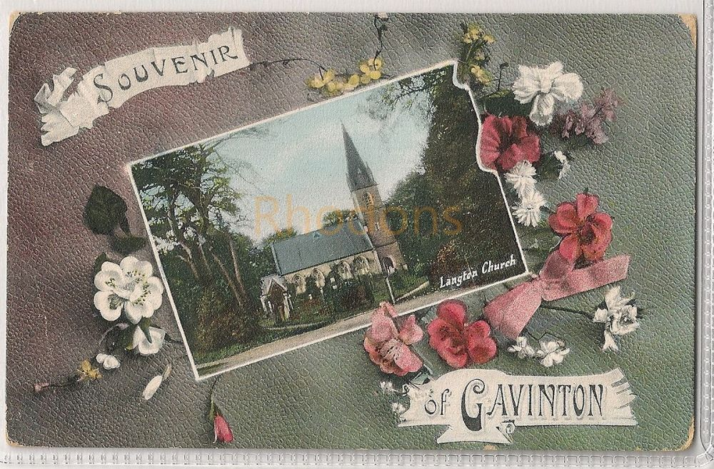 Scotland: Borders. Souvenir Of Gavinton, Langton Church, Berwickshire, Early 1900s Postcard