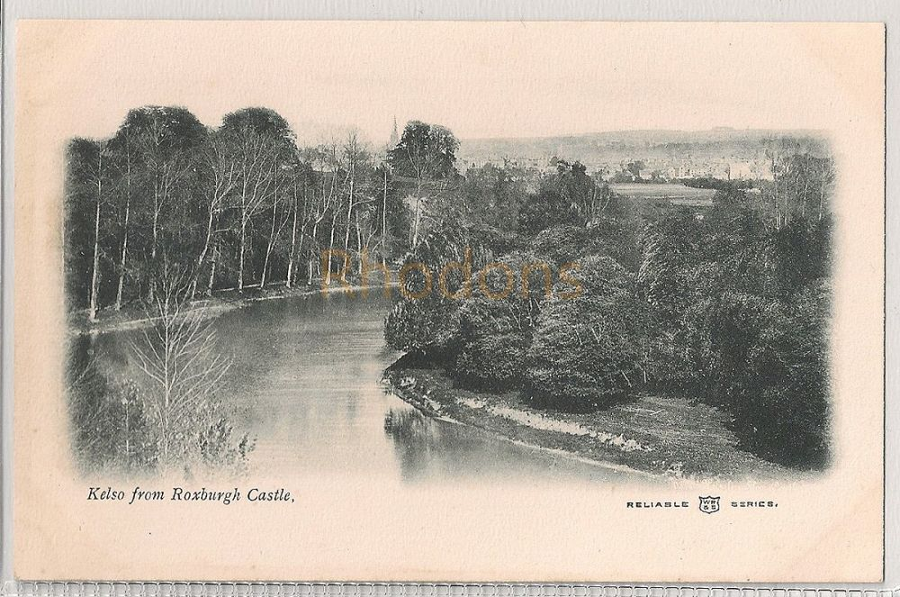 Scotland: Borders, Roxburghshire, Kelso From Roxburgh Castle. Early 1900s UDB Postcard