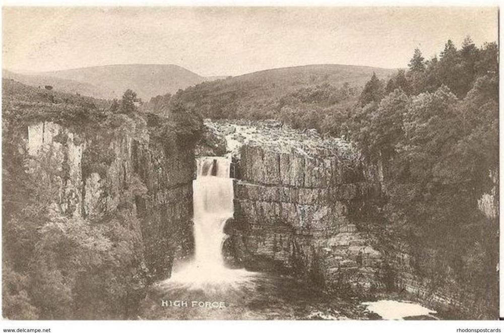 England: Durham. High Force Waterfall, Near Middleton in Teesdale, Durham. Early 1900s.