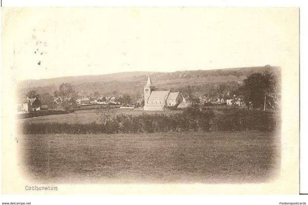 England: Durham. Cotherston (Cotherstone) and Church, Near Barnard Castle, Durham. Early 1900s Postcard