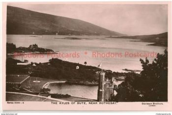 Scotland: Argyll & Bute. The Kyles of Bute Near Rothesay. Real Photo Postcard