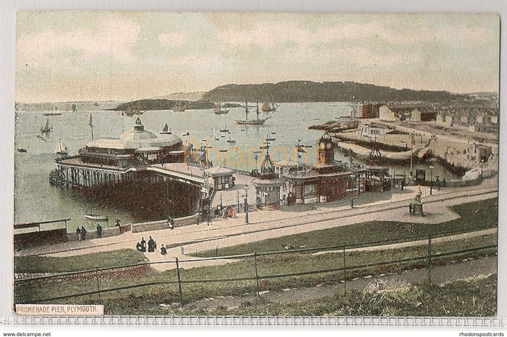 England: Devon. Promenade Pier Plymouth, Devon. Early 1900s Postcard