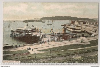 Devon: Promenade Pier Plymouth, Devon. Early 1900s Postcard
