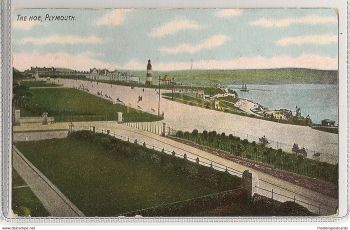 Devon: Lighthouse, The Hoe, Plymouth, Devon. Early 1900s Postcard