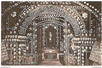 Malta: Chapel Bones, Valletta, Malta, Circa 1930s Postcard