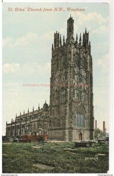 Wales: Wrexham. St Giles Church From North West. Early 1900s Postcard