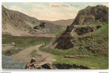 Wales: Gwynedd. Happy Valley, Towyn. Valentines, Early 1900s Postcard