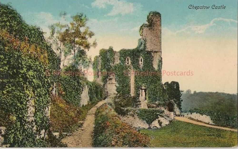 Wales: Monmouthshire. Chepstow Castle, Chepstow, Valentines Early 1900s