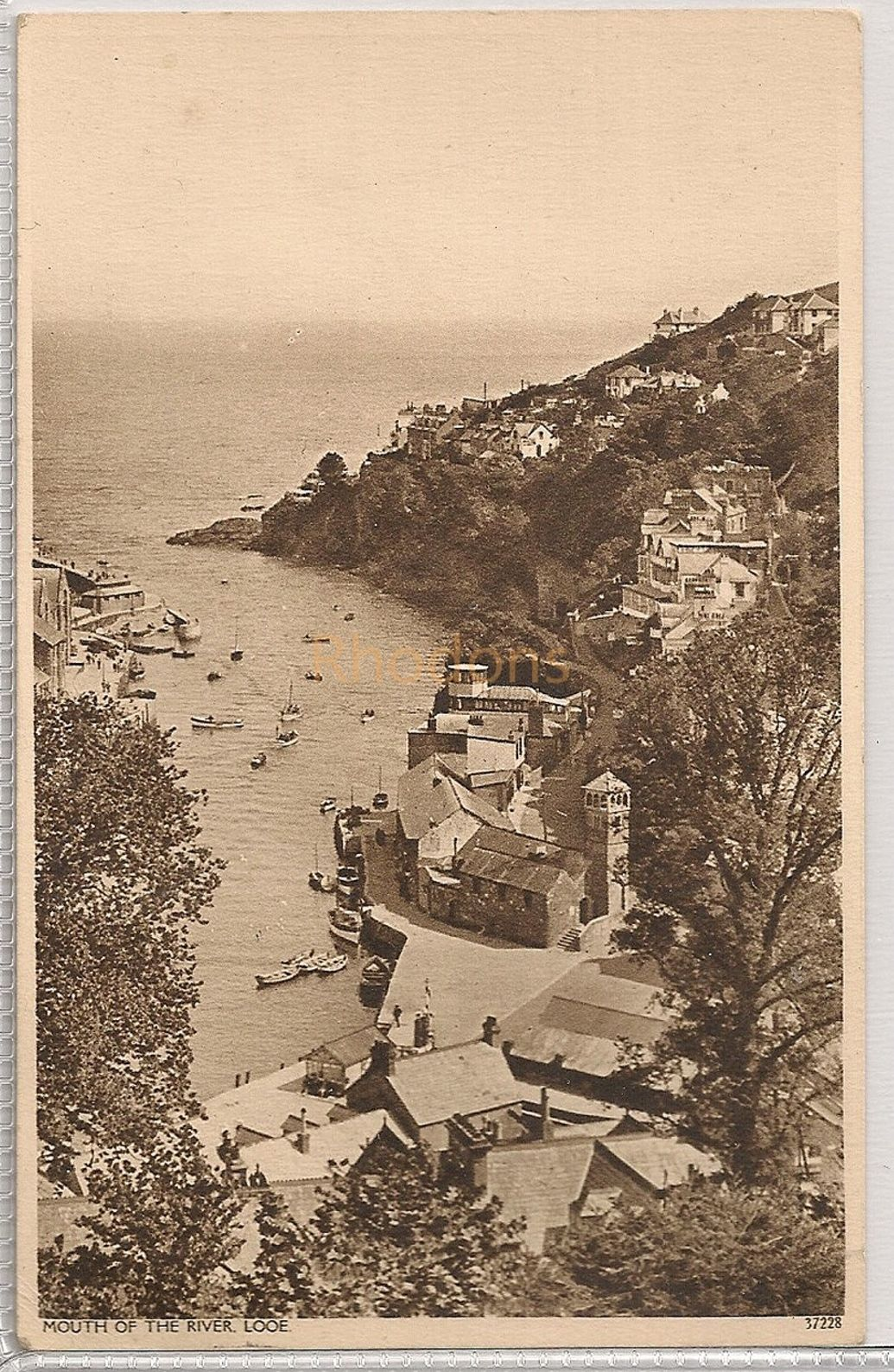 Cornwall: Mouth Of The River Looe, 1940s Postcard