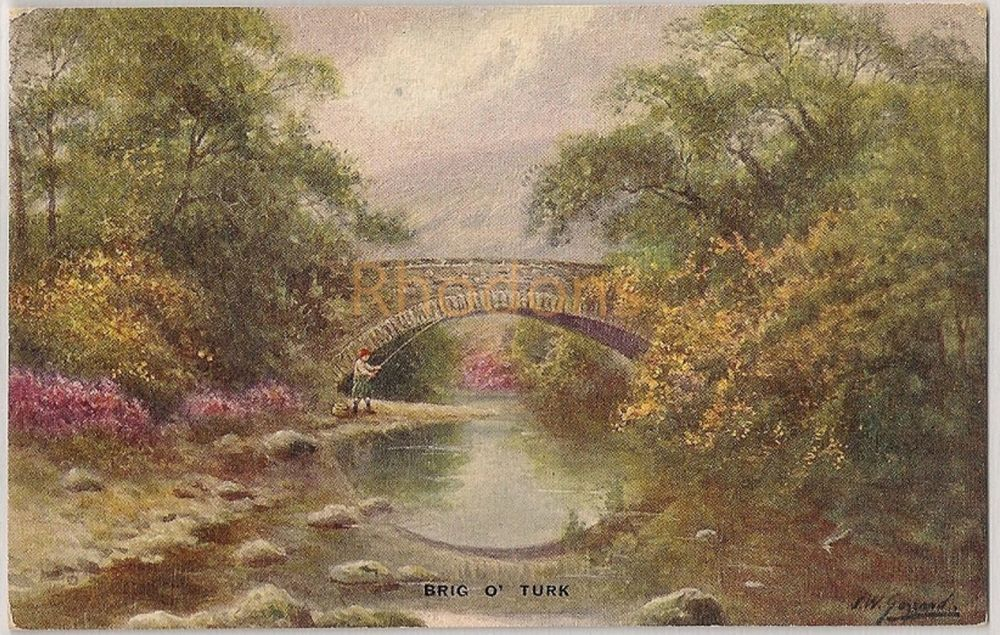 Scotland: Stirlingshire. Brig O'Turk. Valentines Art Colour Series Postcard, Early 1900s