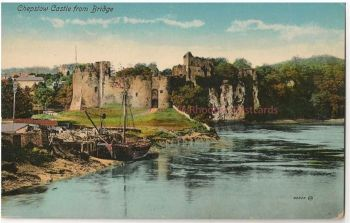 Wales: Monmouthshire. Chepstow Castle From Bridge, Monmouthshire. Early 1900s Postcard