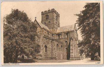 England: Cumbria. Carlisle Cathedral, Cumberland. 1950s Photochrom Postcard