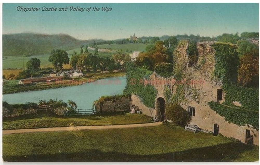 Wales: Monmouthshire. Chepstow Castle & Wye Valley. Valentines Early 1900s Postcard